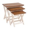 <strong>Woodland Imports</strong> 3 Piece Nesting Table
