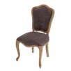 Woodland Imports The Royal Wood Fabric Vintage Side Chair