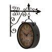 <strong>Woodland Imports</strong> Artistic and Antique Themed Double Side Clock