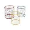 Woodland Imports The Colorful 3 Piece Metal Basket Set