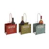 Woodland Imports Rustic Tabletop Wine Rack (Set of 3)