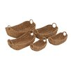 Woodland Imports Attractive Classy 5 Piece Sea Grass Basket Set