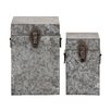 <strong>The Cool 2 Piece Metal Square Box Set</strong> by Woodland Imports
