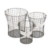 <strong>Woodland Imports</strong> 3 Piece Handy Metal Wire Basket Set