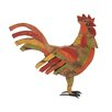 Woodland Imports Contemporary Styled Wood Metal Painted Rooster Statue
