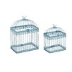 Woodland Imports 2 Piece Adorable and Unique Acrylic Bird Cage Set