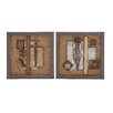 <strong>Woodland Imports</strong> 2 Piece Classy Metal Wall Décor Set