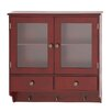Woodland Imports Wood Wall Cabinet with Hook