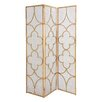 Woodland Imports Useful Metal 3 Panel Room Divider
