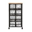 Woodland Imports Organize with Metal / Wood Storage Cabinet