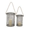 <strong>Woodland Imports</strong> 2 Piece Metal Lantern Set