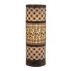 "Woodland Imports Fascinating Classy Cylinder 20"" H Table Lamp with Drum Shade"