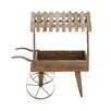 Woodland Imports Nostalgic Wood / Metal Covered Cart