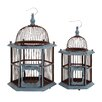 <strong>Woodland Imports</strong> 2 Piece The Wood Bird Cage Set