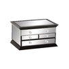Woodland Imports Cool Wood / Mirror Jewelry Box