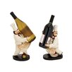<strong>Woodland Imports</strong> 2 Piece The Delightful Chef Wine Holder