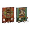<strong>Woodland Imports</strong> 2 Piece Coffee Caddy Wall Decor Set