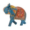Woodland Imports The Inspiring Wood Painted Elephant Statue