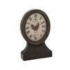 Woodland Imports Attractive Wood Table Clock