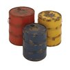 <strong>3 Piece Decorative Cool Metal Barrel Set</strong> by Woodland Imports
