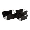 Woodland Imports Smart 3 Piece Metal Wire Basket Set