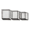 Woodland Imports Attractive 3 Piece Net Metal Wire Wall Basket Set