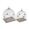 <strong>Woodland Imports</strong> 2 Piece Fascinating Styled Metal Plant Cages