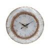 "Woodland Imports 36"" Attractive Metal Wall Clock"