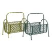 <strong>Fascinating Styled Metal Magazine Rack (Set of 2)</strong> by Woodland Imports