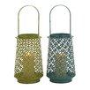 Woodland Imports The Adorable Metal Lantern (Set of 2)
