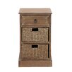 Woodland Imports The Rural Wood Basket Accent Chest