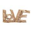 "Woodland Imports Eternal Driftwood ""Love"" Letter Block Wall Décor"