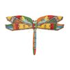 Woodland Imports Stylish and Rusty Dragonfly Wall Plaque