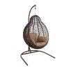 Woodland Imports Beautiful Metal Rattan Porch Swing