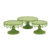 Woodland Imports 3 Piece Metal Cup Cake Stand Set