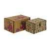 <strong>Woodland Imports</strong> Wonderful 2 Piece Wood Canvas Box Set