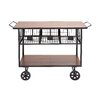 Woodland Imports The Heartthrob Metal Wood Basket Cart