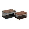 <strong>Woodland Imports</strong> 2 Piece Classy Metal Wood Box Set