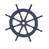 Woodland Imports Attractive Wood Ship Wheel