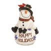 Woodland Imports 'Happy Holidays' Snowman