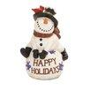 Woodland Imports 'Happy Holidays' Snowman
