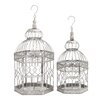 Woodland Imports Decorative 2 Piece Hexagonal Bird Cage Set