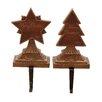 Woodland Imports 2 Piece 'Merry Christmas' Stocking Holder Set