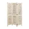 "Woodland Imports 71"" x 48"" Simple and Rustic 3 Panel Room Divider"