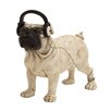 Woodland Imports Simply Beautiful Polystone Dog Headphone Statue