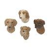 Woodland Imports 4 Piece Lovely Polystone Dog Wall Décor Set