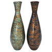 Woodland Imports Brilliant Lacquer Vase (Set of 2)
