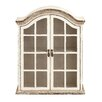 Woodland Imports Traditional Looking Wood Metal Wall Cabinet