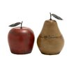 Woodland Imports 2 Piece Smile with Terracotta Metal Fruit Figurune Set