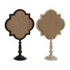Woodland Imports Cool Metal Wood Note Holder (Set of 2)